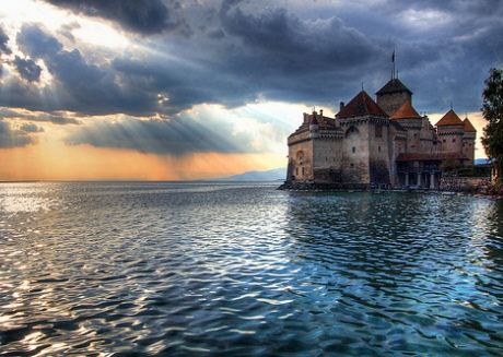 magical Sorcerer's Castle Montreux Switzerland