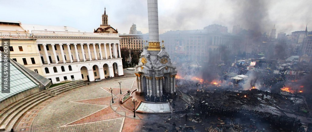Before and After Kiev square
