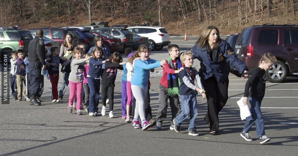 Kids leaving sandy hook