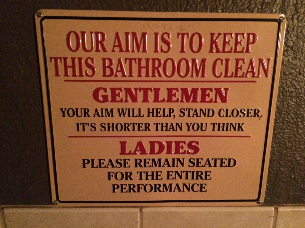 This Sign Makes Me Want To Help Keep The Bathroom Clean