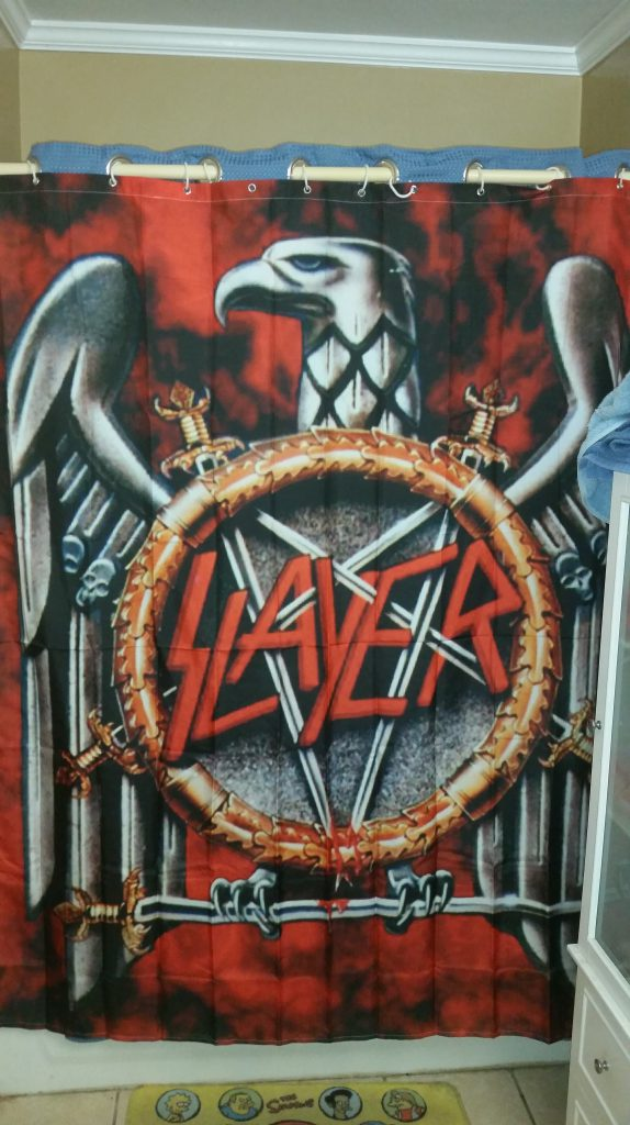 Since Were Sharing Shower Curtains Im A 48 Year Old Life Long Metal Head And I Have FCKIN SLAYER Curtain M